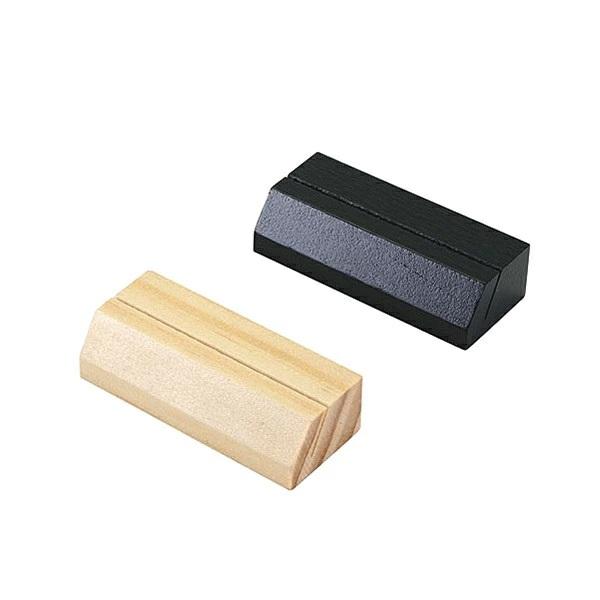 レジ フロントまわりにショップカードを置いてリピーターGET カードスタンド 木製 木理-41 白木 プライススタンド 角型 倉庫 物品 黒木
