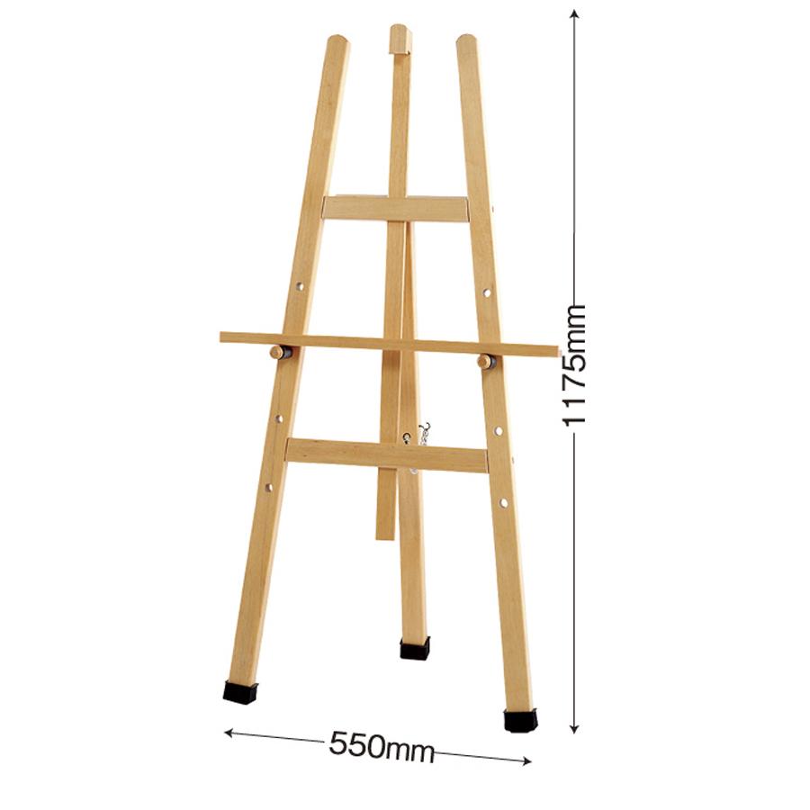 木製イーゼル 白木 OS-21N・W小(白木) メニューボードスタンド 4段タイプ