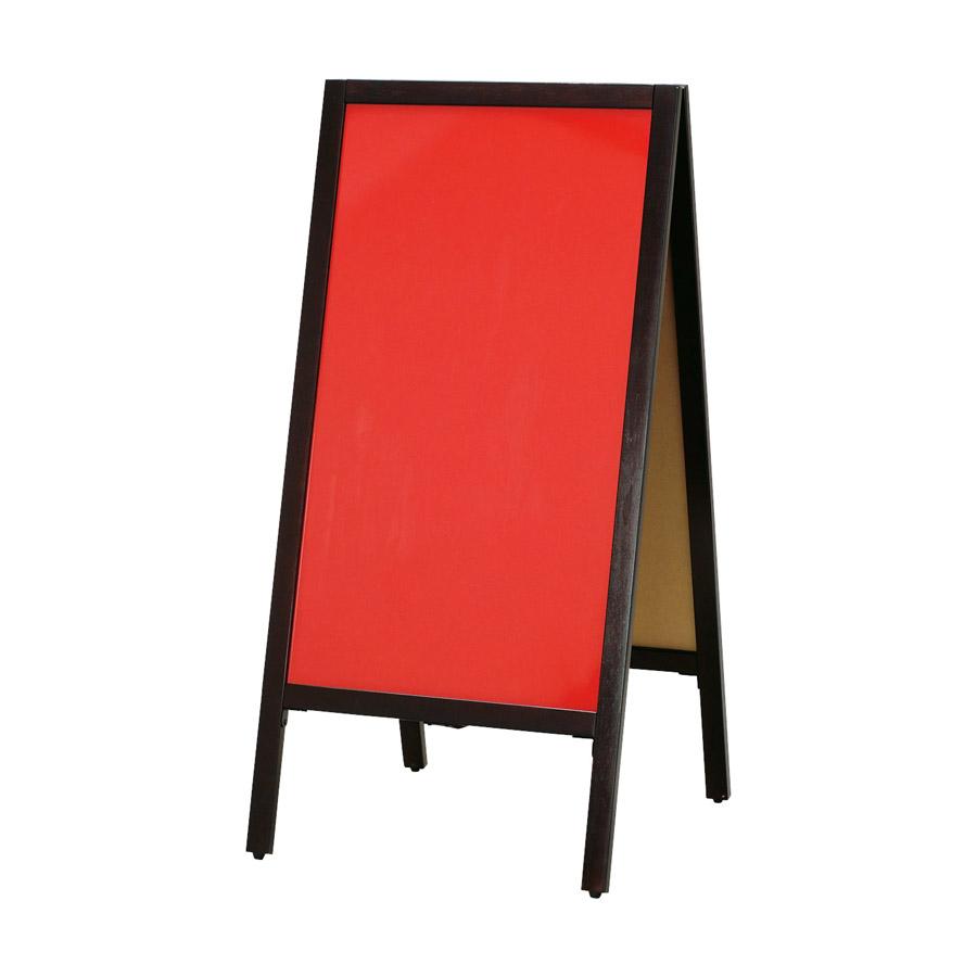 A型看板(大) こげ茶枠 レッドボード ABS-14R 木製 両面マーカー用 ※代引き不可商品