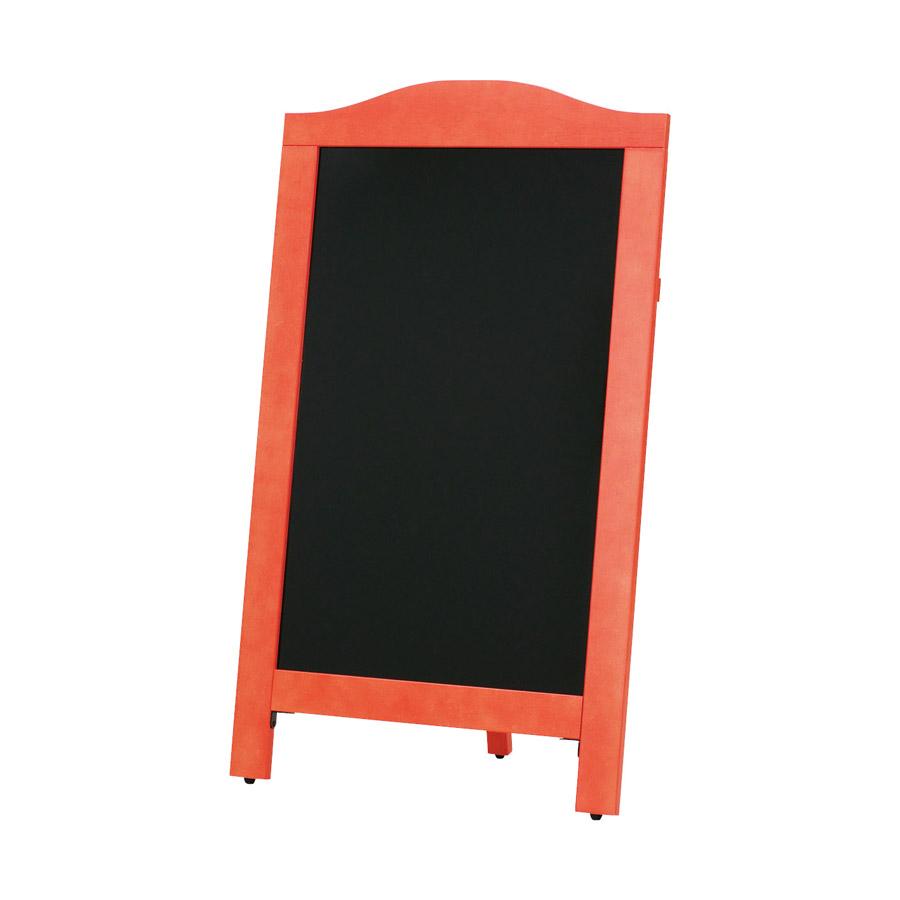 片面ボード 大 太赤枠・R型 ブラックボード ABS-301RB 木製 片面マーカー用 ※代引き不可商品