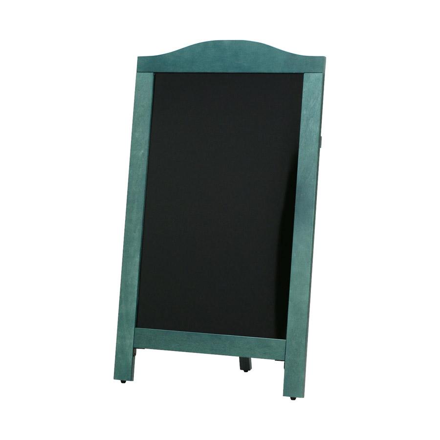 片面ボード 大 太緑枠・R型 ブラックボード ABS-302GB 木製 片面マーカー用 ※代引き不可商品