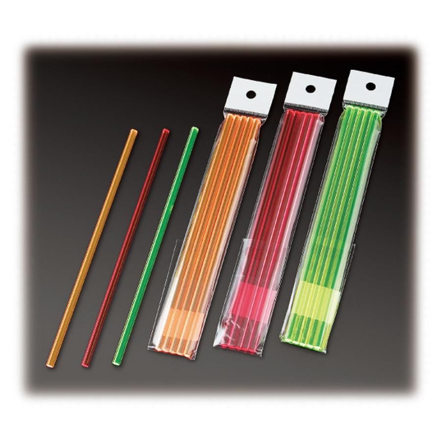 #9824;バーの必需品 お値打ち価格で グラスのお供に マドラー#9824; マドラー 蛍光アクリル 六角型 オレンジ M-52 赤 緑 SEAL限定商品 5本セット