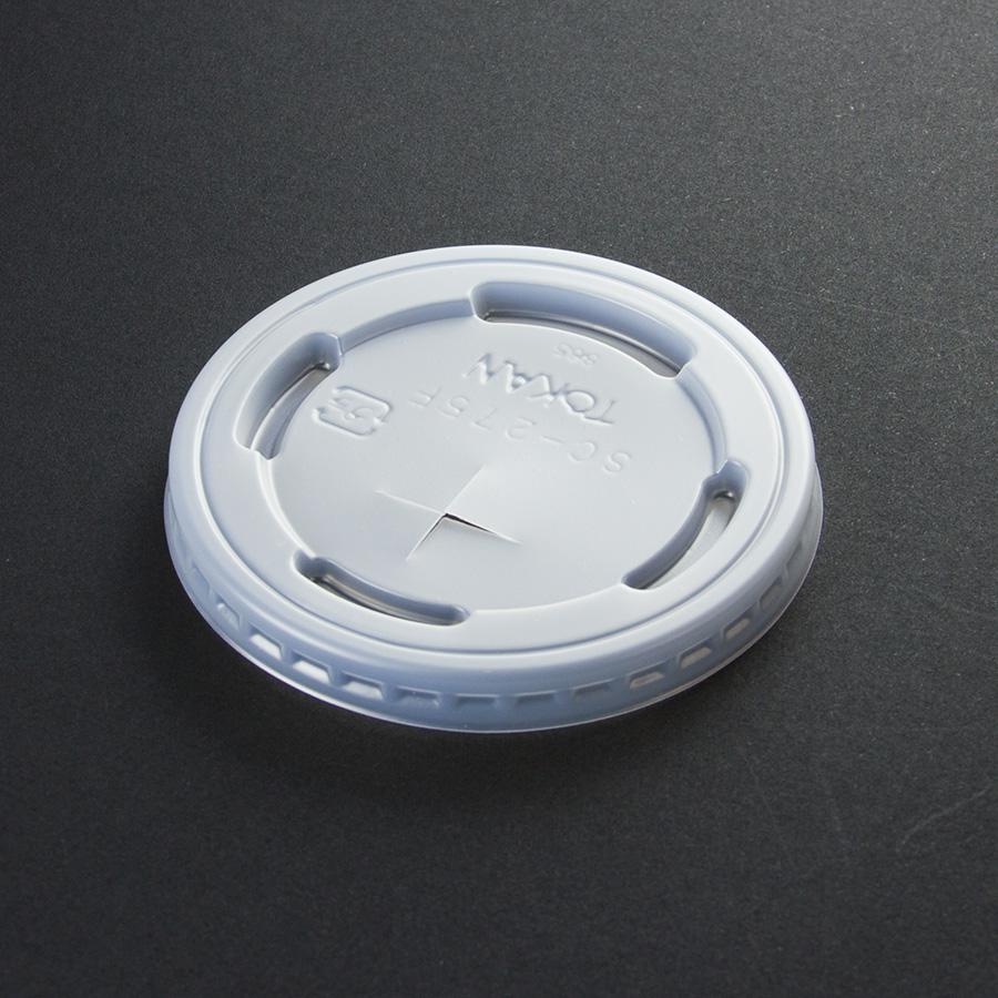 紙コップ用フタ 口径76.8mm 1パック:2500個入り SC-275-F PS (N)×穴【お祭りイベントテイクアウト・業務用・使い捨て食品容器】