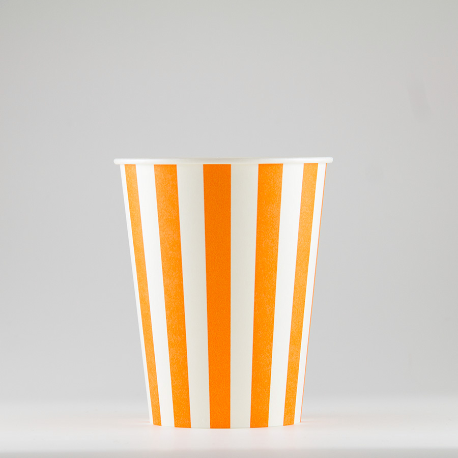 紙コップ 272ml(9.5オンス) 1パック:2500個入り SCV-275Pストライプ 【テイクアウト紙カップ・業務用・使い捨て食品容器】
