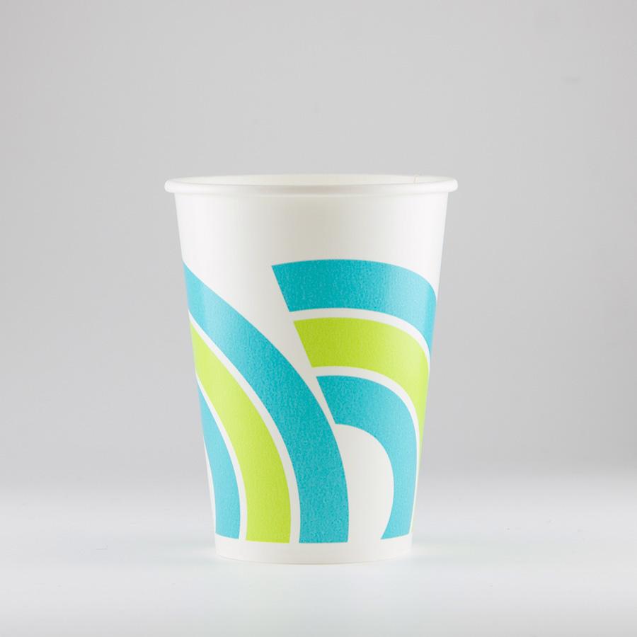 紙コップ 307ml(10.5オンス) 1パック:2000個入り SCM-320Pレインボー 【お祭りイベントテイクアウト・業務用・使い捨て食品容器】