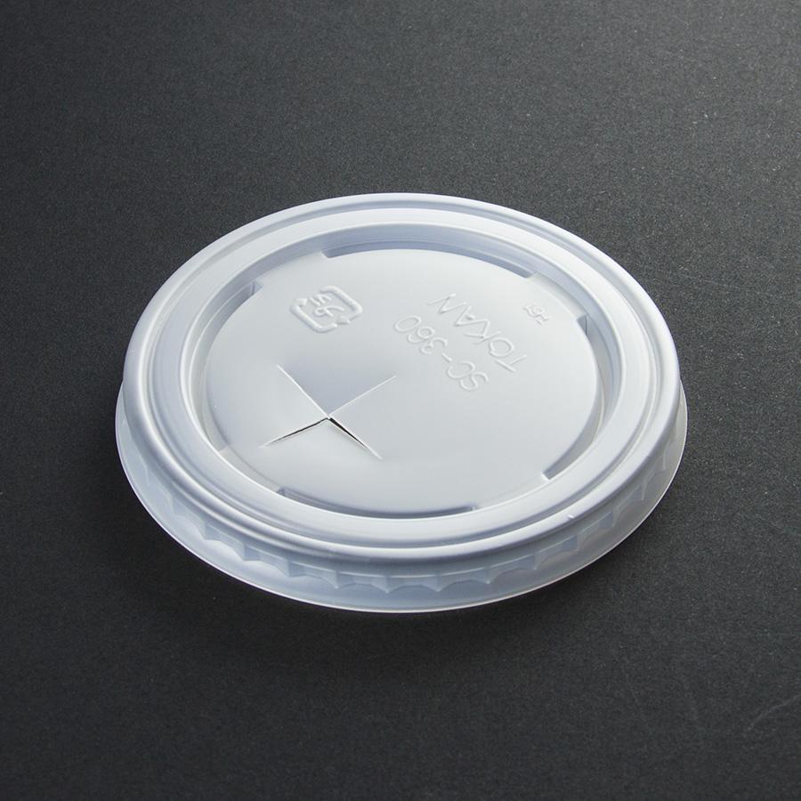 紙コップ用フタ 口径80.6mm 1パック:2800個入り SC-360-F PS (N)×穴【お祭りイベントテイクアウト・業務用・使い捨て食品容器】