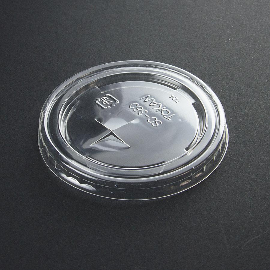 紙コップ用フタ 口径80.6mm 1パック:2000個入り SC-360-F PS (C)×穴【お祭りイベントテイクアウト・業務用・使い捨て食品容器】