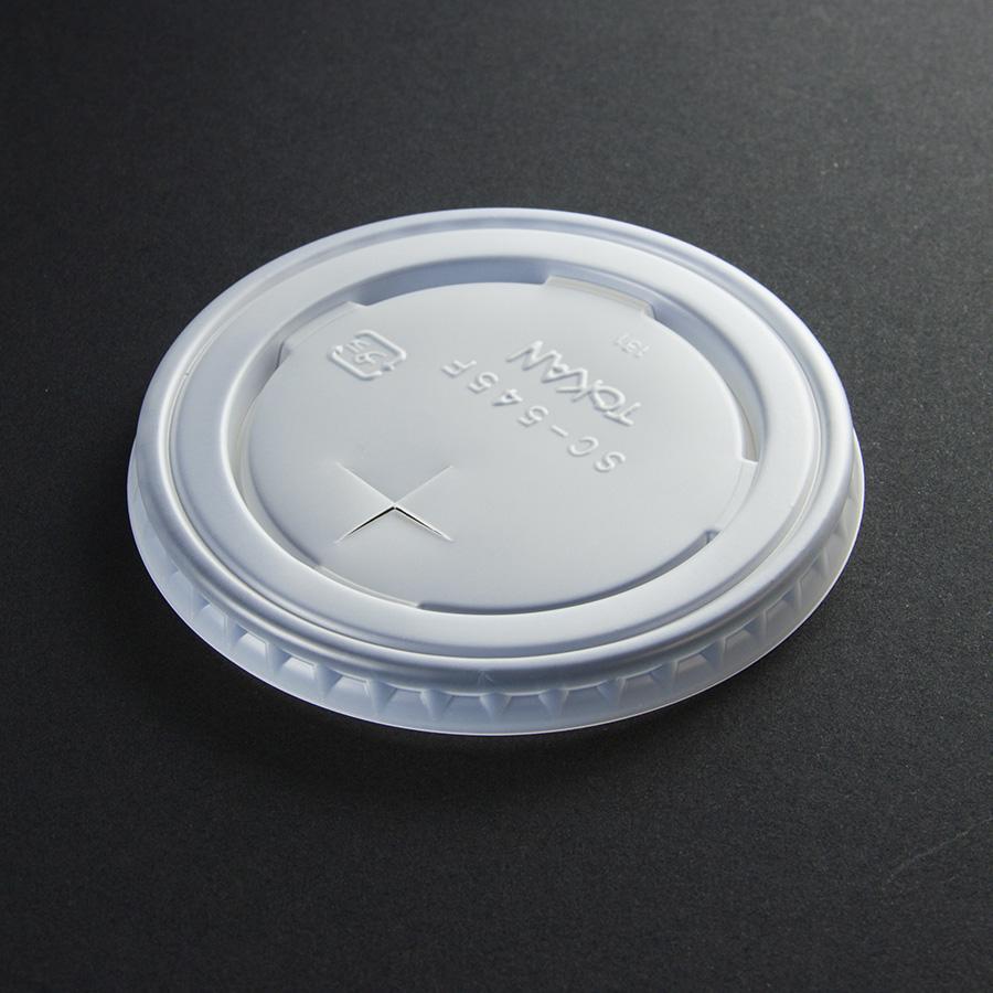 紙コップ用フタ 口径89.4mm 1パック:2000個入り SC-545-F PS (N)×穴【お祭りイベントテイクアウト・業務用・使い捨て食品容器】