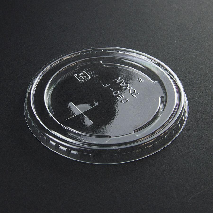 紙コップ用フタ 口径89.4mm 1パック:2000個入り SC-545-F PET×穴 【お祭りイベントテイクアウト・業務用・使い捨て食品容器】