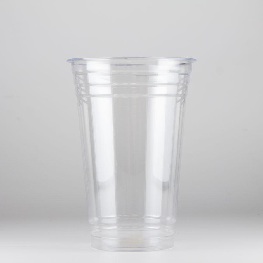 プラスチックカップ 600ml(20オンス) 96mm口径 1000個 (PET製) T-96-600L 無地
