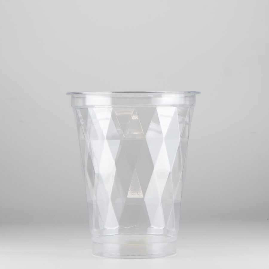 プラスチックカップ 480ml(16オンス) 96mm口径 1,000個  (PET製) T96-485D ダイヤカットタイプ【お祭りイベントテイクアウト・業務用・使い捨て食品容器】