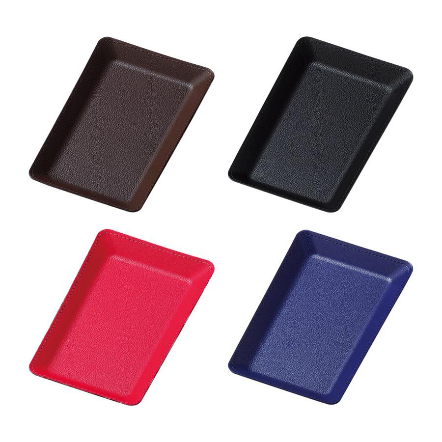 お会計時の定番アイテム、キャッシュトレイ 合皮キャッシュトレイ CT-7 合皮・カルトン ブラック・ブラウン・レッド・ブルー
