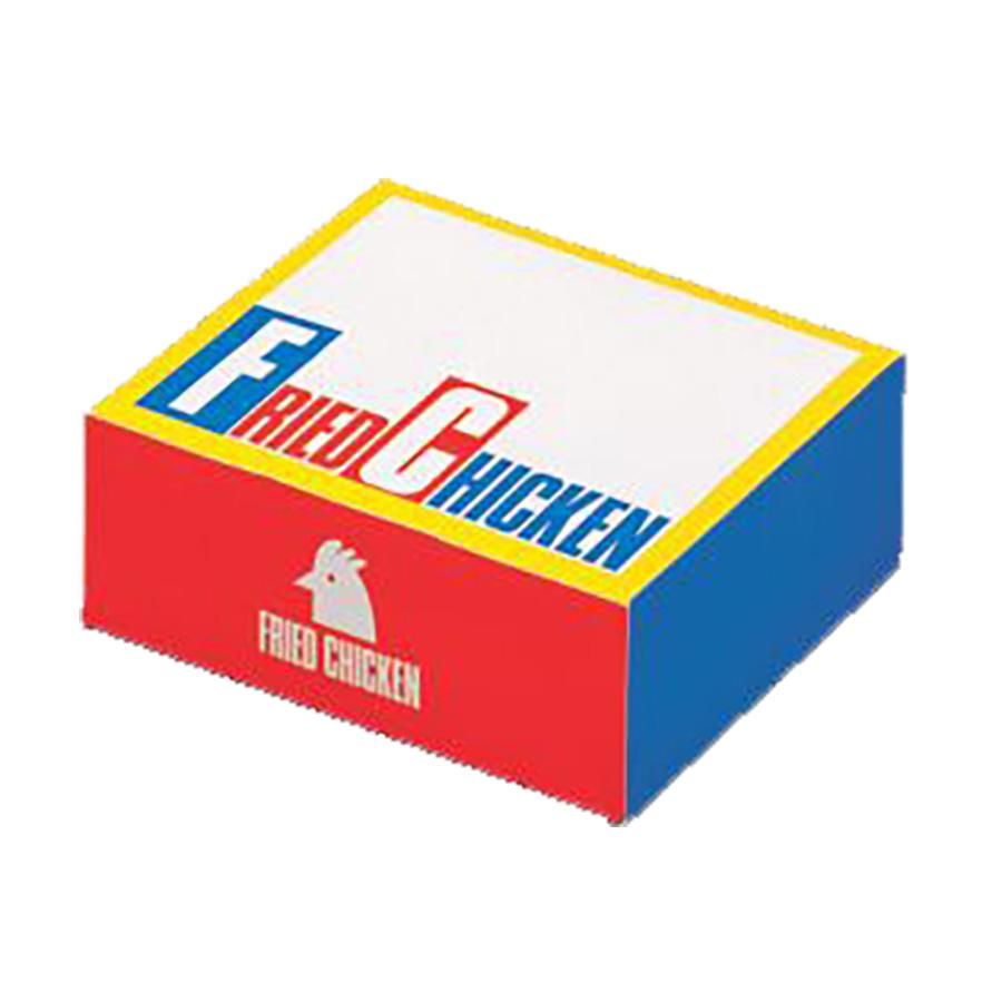 フライドチキンボックスS 140×180×60mm 500枚入り 持ち帰り箱 チキンBOX S 【テイクアウト・イベント・業務用・お祭り・使い捨て食品容器】