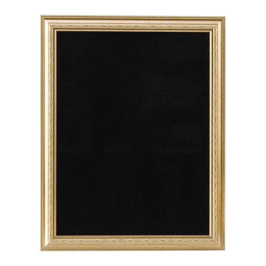 ハイクラスフレーム型ブラックボード(屋内用) 片面・マーカー用 W551xH701x23mm ゴールド DFB-151G(大) えいむ(Aim)