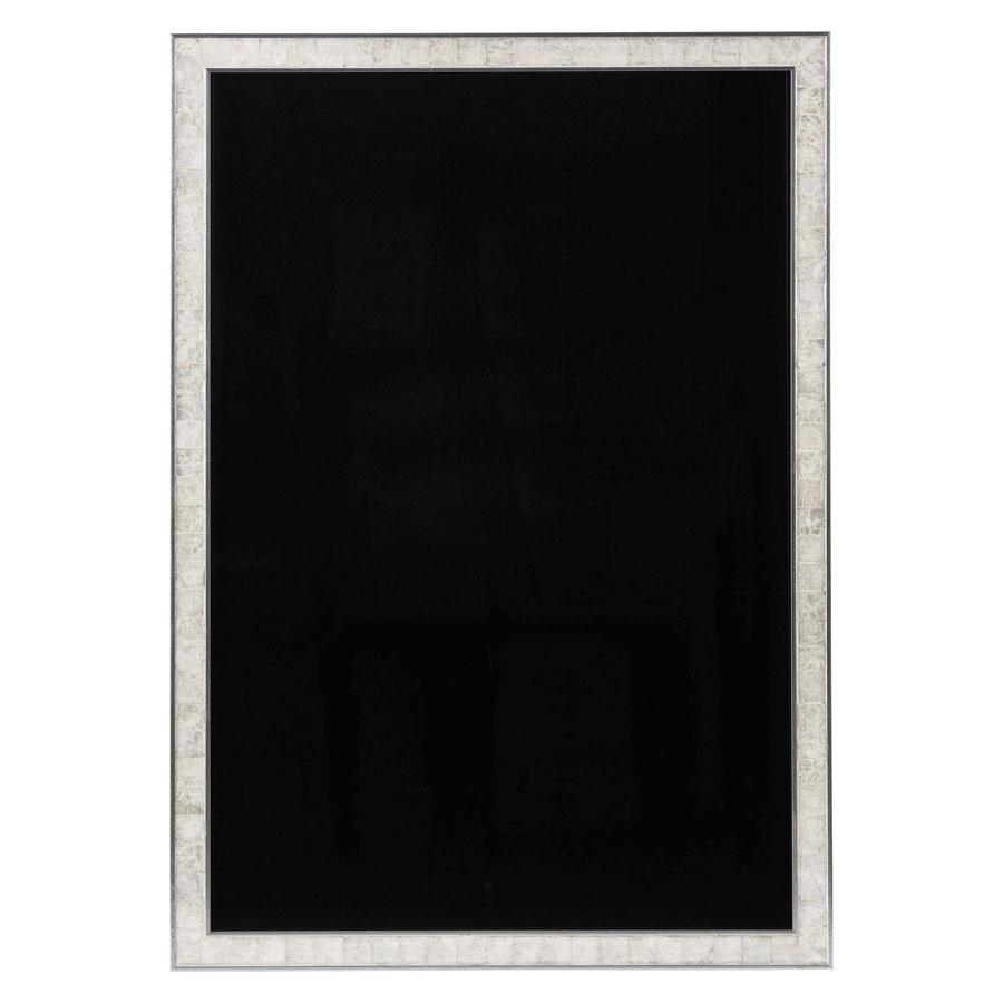 ハイクラスフレーム型ブラックボード(屋内用) 片面・マーカー用 W689xH989x19mm シルバーシェルホワイト DFB-120(特大) えいむ(Aim) ※代引き不可商品