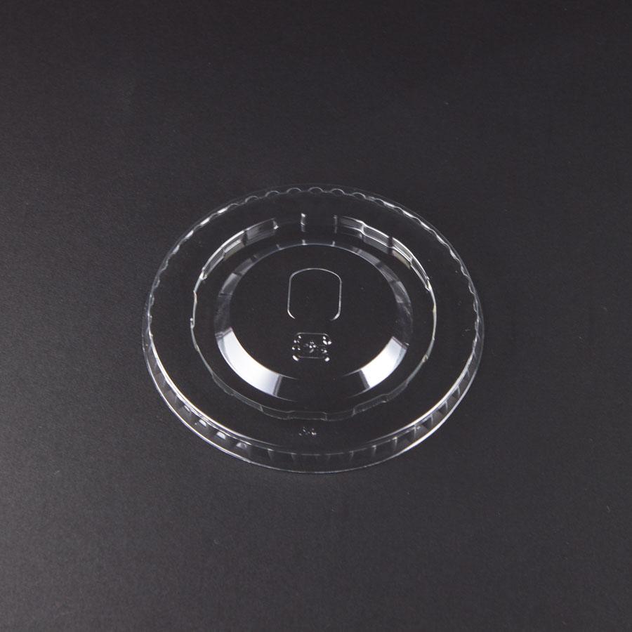 デザートカップ用フタ 口径77mm 2000個 ストロー穴付き L-77D 平蓋U穴有