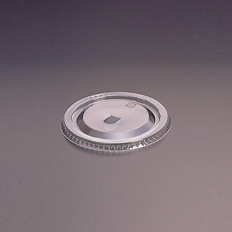 デザートカップ用フタ 口径96mm 2000個 ストロー穴付き L-96D 平蓋U穴有