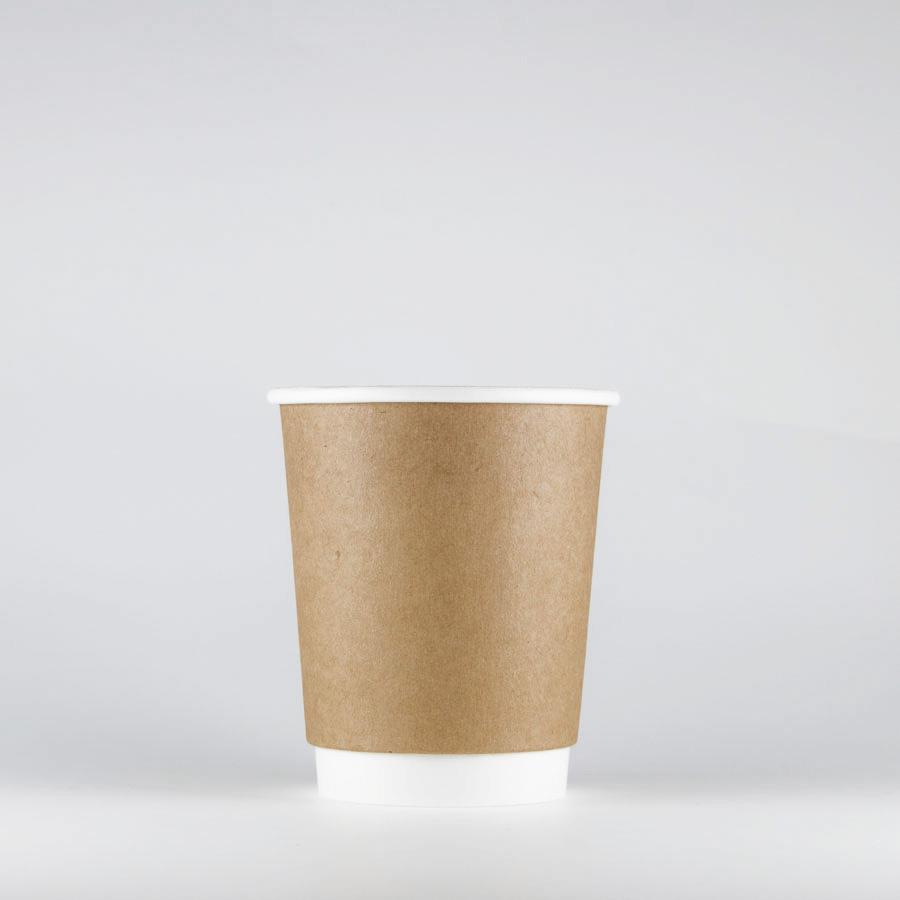 断熱クラフト二重カップ 360ml(12オンス) 1000個 BMT-037 二重紙コップ 【テイクアウト・イベント・業務用・お祭り・使い捨て食品容器・紙カップ】