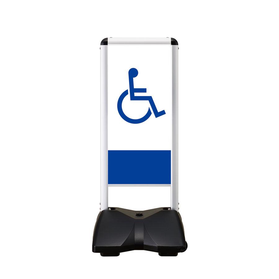 屋外サイン 両面 車椅子-A RBC-5両面 ローリングベースコンパクト シンエイ メーカー直送の為、代引き不可商品です 沖縄・北海道・離島対応不可