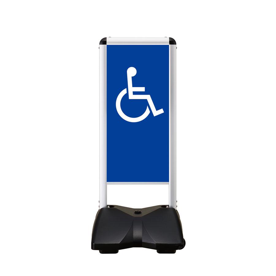 屋外サイン 両面 車椅子-B RBC-6両面 ローリングベースコンパクト シンエイ メーカー直送の為、代引き不可商品です 沖縄・北海道・離島対応不可