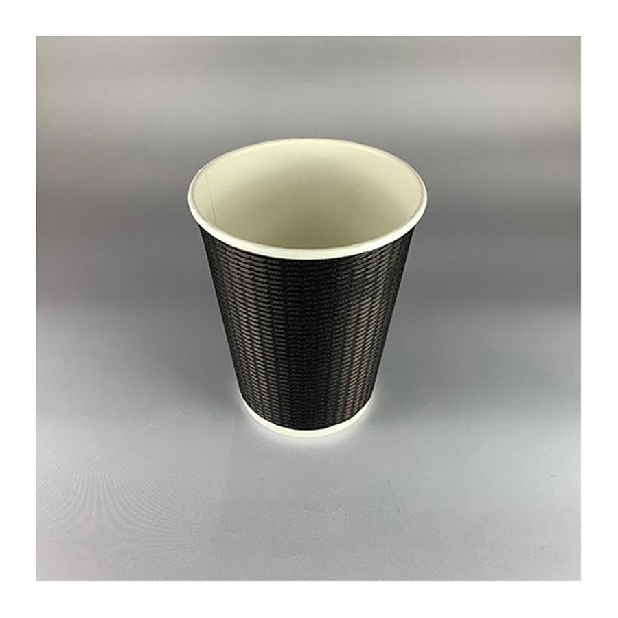 断熱エコBLACK二重カップ 360ml(12オンス) 1000個 BMT-049 二重紙コップ 黒紙コップ