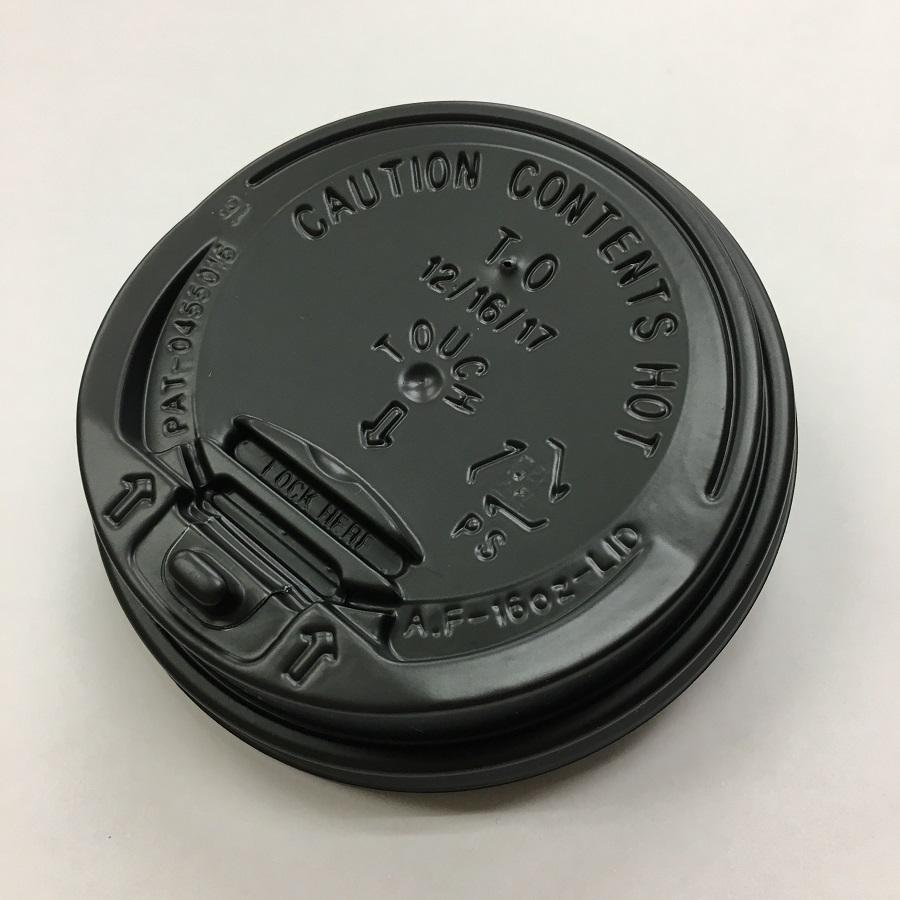 黒色リフトアップリッド(※BMT10・12オンス白無地紙コップ専用) 2000個 BMT-068