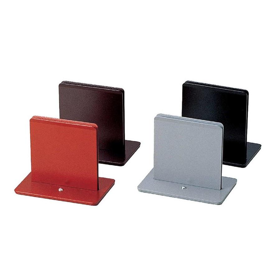 高級 熱にも強いタイプのメニューブックスタンド メタル薄型メニュー立て 100xH85x65xミゾ巾3mm メニューブックスタンド 特売 BS-23 ブラック ブラウン グレー レッド えいむ メニューブック立て