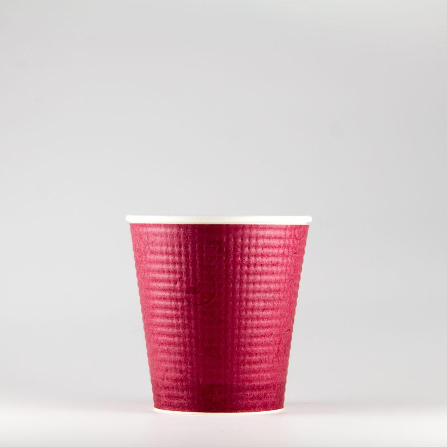 エンボス紙コップ 252ml(8オンス) 1000個 SMP-250E コンフォート 【テイクアウト・イベント・業務用・お祭り・使い捨て食品容器・紙カップ】