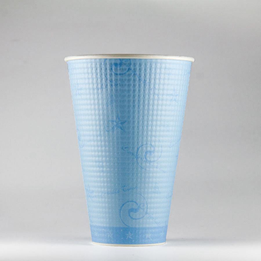エンボス紙コップ 503ml(17.5オンス) 1000個 SMP-500E コンフォート 【テイクアウト・イベント・業務用・お祭り・使い捨て食品容器・紙カップ】