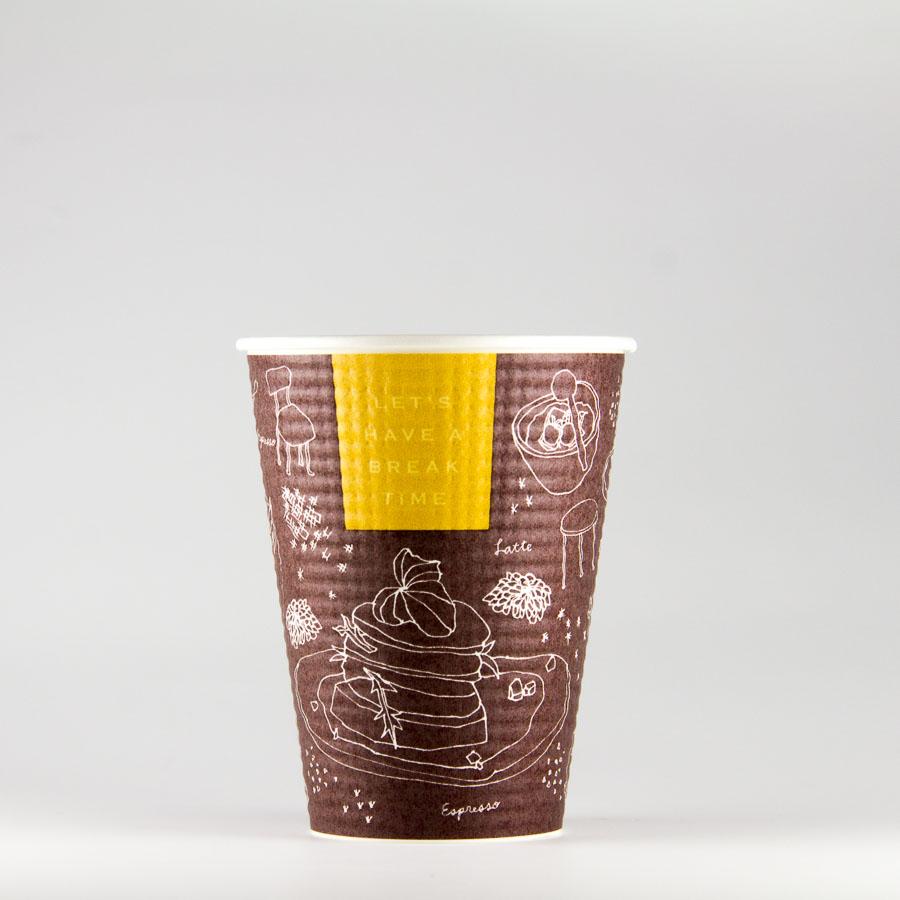エンボス紙コップ 340ml(12オンス) 1000個 SMP-340E ブレイクタイム 【テイクアウト・イベント・業務用・お祭り・使い捨て食品容器・紙カップ】