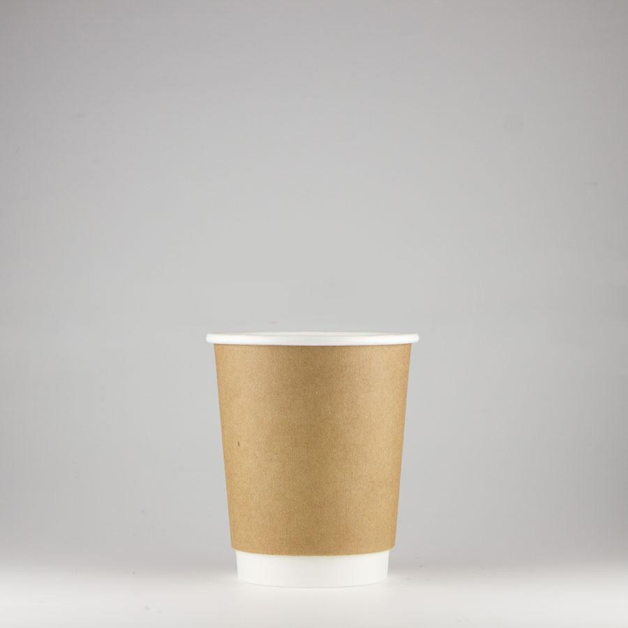 断熱クラフト二重カップ 240ml(8オンス) 1000個 BMT-036 【テイクアウト・イベント・業務用・お祭り・使い捨て食品容器・紙カップ】