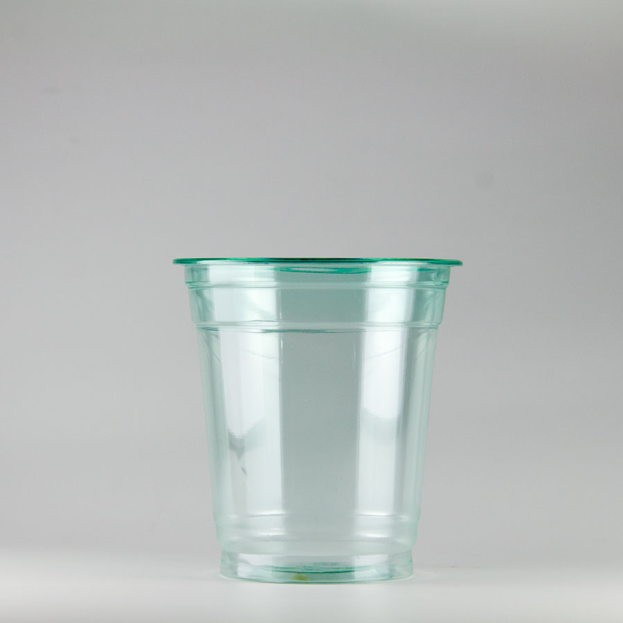 プラカップ緑 370ml(12オンス) 89mm口径 1000個 (PET製) カラーカップ89-12オンス緑【テイクアウト紙カップ・業務用・使い捨て食品容器】