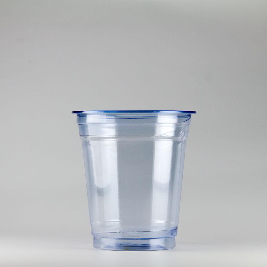 プラカップ青 370ml(12オンス) 89mm口径 1000個 (PET製) カラーカップ89-12オンス青【テイクアウト紙カップ・業務用・使い捨て食品容器】