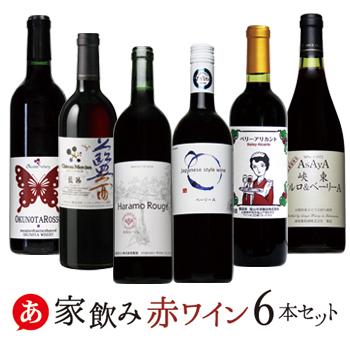 【 ワイン セット 送料無料 】家飲み 赤ワイン 6本セット【 日本ワイン 国産 ワイン 赤ワイン セット 】