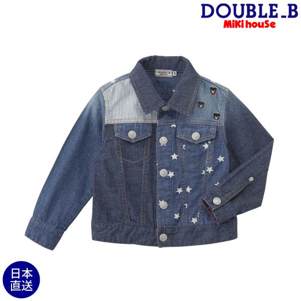 ダブルB【DOUBLE B】デニムパッチワークGジャン(120cm・130cm)