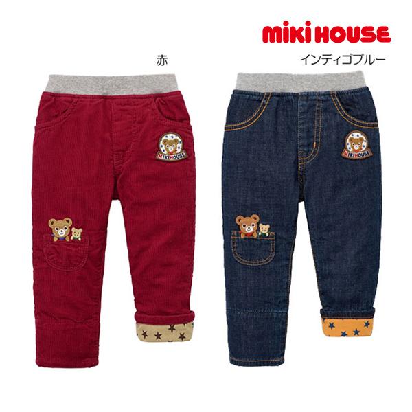 (海外販売専用)ミキハウス mikihouse プッチー 裏地付きパンツ(80cm・90cm・100cm)