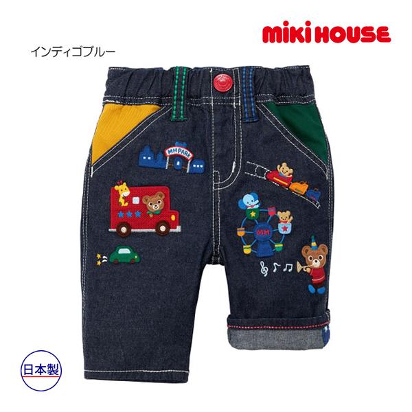 (海外販売専用)ミキハウス mikihouse プッチー テーマパーク7分丈パンツ(110cm・120cm・130cm)