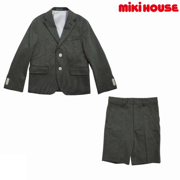 ミキハウス正規販売店/ミキハウス mikihouse コンパクトコットンピケ スーツ(110cm)
