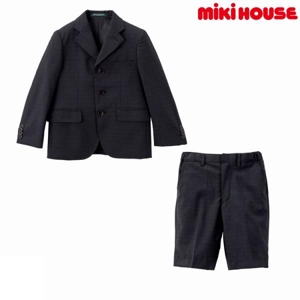 ミキハウス正規販売店/ミキハウス mikihouse ウィンドウペン柄三つボタンスーツ(120cm・130cm)