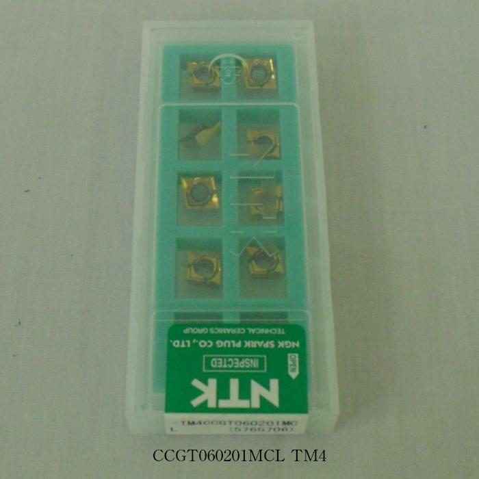 NTK バイト用チップ  80゚菱形ポジ7゚穴付G級 CCGT060201MCL PVDコーテッド超硬 TM4