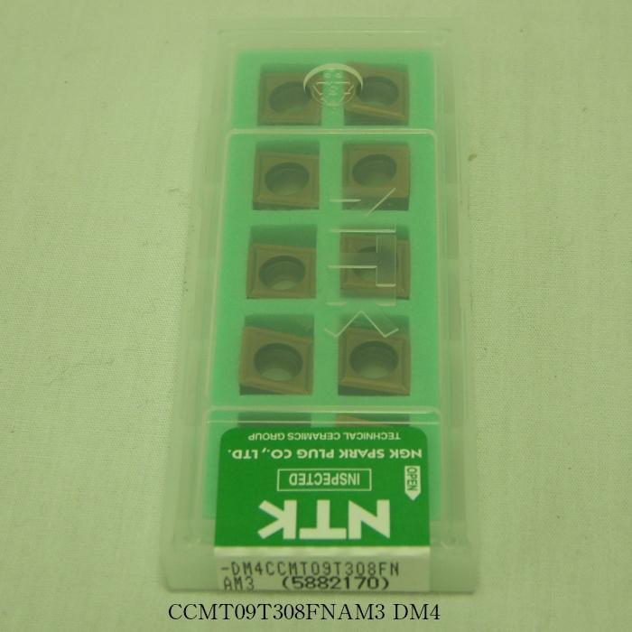 NTK バイト用チップ  80゚菱形ポジ7゚穴付M級 CCMT09T308FNAM3 PVDコーテッド超硬 DM4
