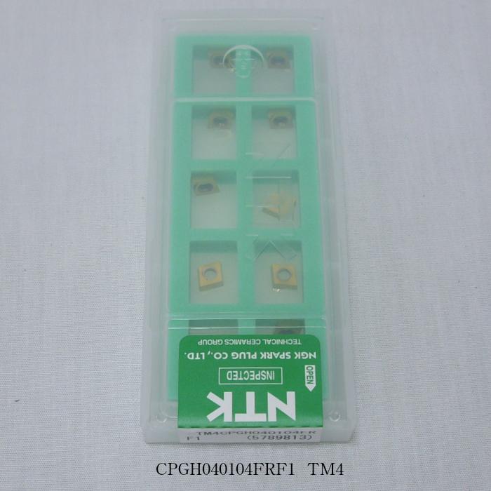 NTK バイト用チップ  80゚菱型11゚ポジ穴付G級 CPGH040104FRF1 PVDコーテッド超硬 TM4