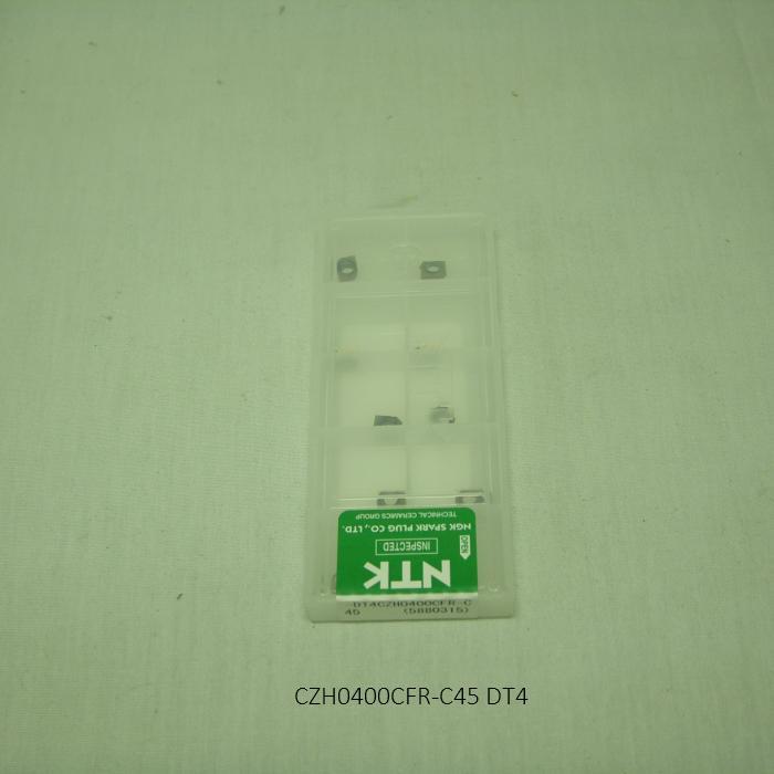 NTK エンドミル用チップ SSバイト小径スローアウェイEM TA CZH CZH0400CFR-C45 PVDコーテッド超硬 DT4