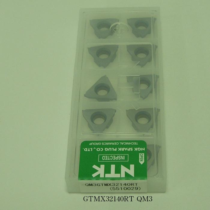 NTK バイト用チップ 三角縦型溝入れTA GTMX32-T GTMX32140RT PVDコーテッド超硬 QM3