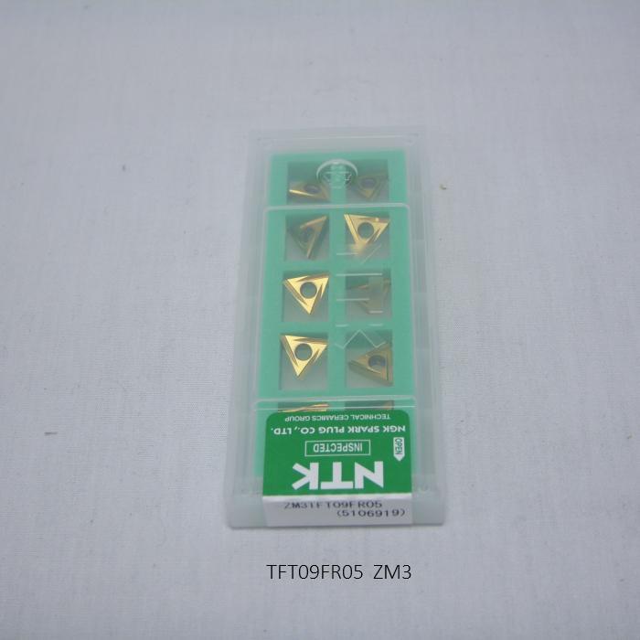 NTK バイト用チップ SSバイト三角ポジティブ TA TFT09FR05 PVDコーテッド超硬 ZM3
