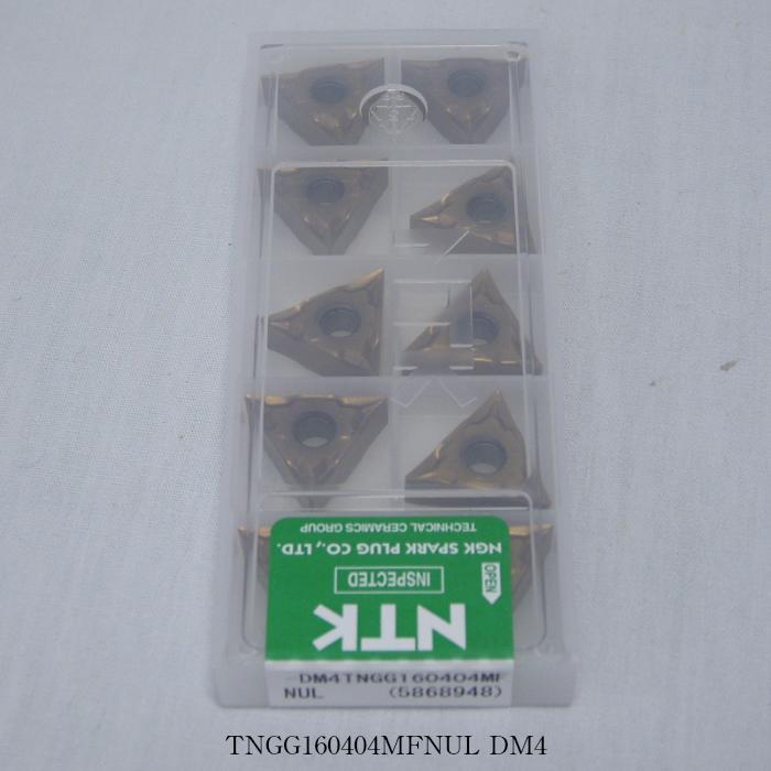 NTK バイト用チップ 三角ネガ穴付G級ブレーカツキ TNGG160404MFNUL PVDコーテッド超硬 DM4