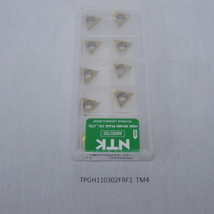 NTK バイト用チップ 三角11゚穴付G級ブレーカツキ TPGH110302FRF1 PVDコーテッド超硬 TM4