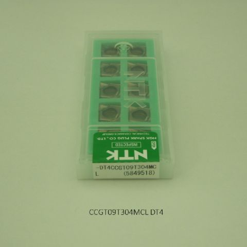 NTK バイト用チップ 80゜菱形ポジ7゜穴付G級 CCGT09T304MCL DT4 PVDコーテッド超硬