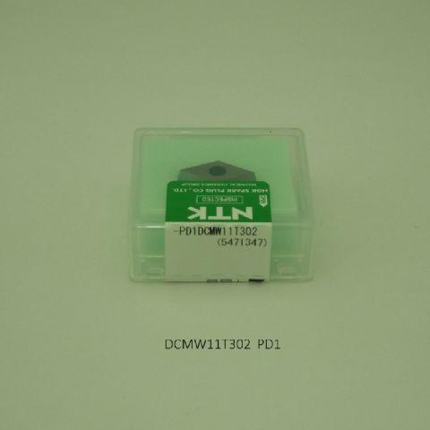 NTK バイト用チップ 55゜菱7゜ポジ穴付M級Bナシ DCMW11T302 PD1 PCD・ダイヤ