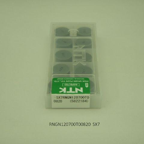 NTK バイト用チップ 円型ネガ穴なしTA RNGN120700T00820 SX7 セラミック